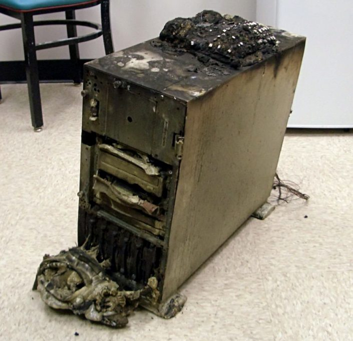 Server on fire : Backup Your Data Before Disaster Strikes